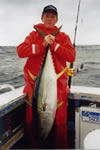 Aboard Reel Quick, Tim Corbett captured a 15 Kg Yellowfin using a Evil Little Donger lure. (21kb)